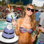 Ice Fountains Celebrities Audrina Patridge Wet Republic Pool Party Las Vegas