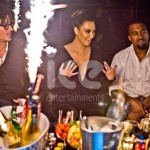 Ice Fountains Celebrities Kim Kardashian Kanye West Movida London