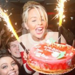 Ice Fountains Celebrities Lydia Towie The Only Way Is Essex Birthday