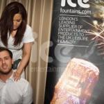 Ice Fountains Fun Shots Cool As Ice rikki Constantinou London Bar Club Awards Massage