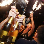 Ice Fountains Nightclubs Bottle Service Crystal Champagne With Sparklers