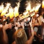 Ice Fountains Nightclubs Bottle Service Of LPR Bottles On Fire