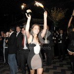 Ice Fountains Nightclubs Bottle Service Sexy Hostess Serving Champagne